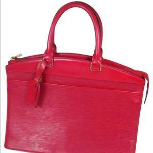 Authentic Louis Vuitton Rivera Satchel Bag Red EPI